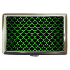 Scales1 Black Marble & Green Brushed Metal Cigarette Money Cases
