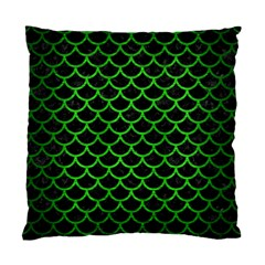 Scales1 Black Marble & Green Brushed Metal Standard Cushion Case (two Sides)