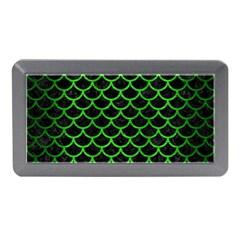 Scales1 Black Marble & Green Brushed Metal Memory Card Reader (mini)