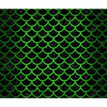 SCALES1 BLACK MARBLE & GREEN BRUSHED METAL Deluxe Canvas 14  x 11  14  x 11  x 1.5  Stretched Canvas