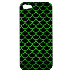 Scales1 Black Marble & Green Brushed Metal Apple Iphone 5 Hardshell Case