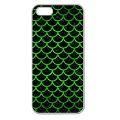 Scales1 Black Marble & Green Brushed Metal Apple Seamless Iphone 5 Case (clear)