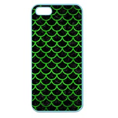 Scales1 Black Marble & Green Brushed Metal Apple Seamless Iphone 5 Case (color)