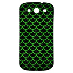 Scales1 Black Marble & Green Brushed Metal Samsung Galaxy S3 S Iii Classic Hardshell Back Case