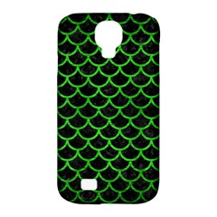 Scales1 Black Marble & Green Brushed Metal Samsung Galaxy S4 Classic Hardshell Case (pc+silicone)