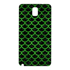 Scales1 Black Marble & Green Brushed Metal Samsung Galaxy Note 3 N9005 Hardshell Back Case