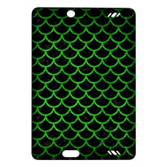 Scales1 Black Marble & Green Brushed Metal Amazon Kindle Fire Hd (2013) Hardshell Case