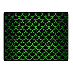 Scales1 Black Marble & Green Brushed Metal Double Sided Fleece Blanket (small)