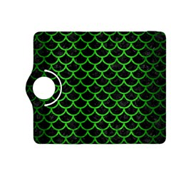 Scales1 Black Marble & Green Brushed Metal Kindle Fire Hdx 8 9  Flip 360 Case