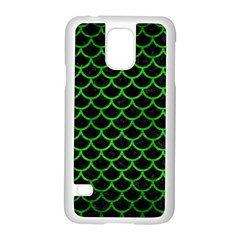 Scales1 Black Marble & Green Brushed Metal Samsung Galaxy S5 Case (white)