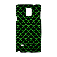 Scales1 Black Marble & Green Brushed Metal Samsung Galaxy Note 4 Hardshell Case