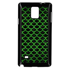 Scales1 Black Marble & Green Brushed Metal Samsung Galaxy Note 4 Case (black)