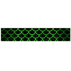 Scales1 Black Marble & Green Brushed Metal Flano Scarf (large)