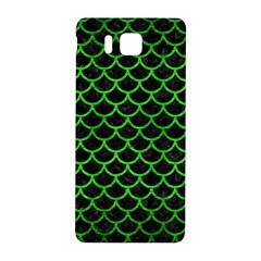 Scales1 Black Marble & Green Brushed Metal Samsung Galaxy Alpha Hardshell Back Case