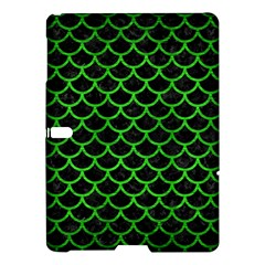 Scales1 Black Marble & Green Brushed Metal Samsung Galaxy Tab S (10 5 ) Hardshell Case