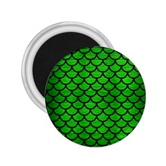 Scales1 Black Marble & Green Brushed Metal (r) 2 25  Magnets