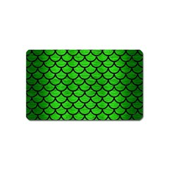 Scales1 Black Marble & Green Brushed Metal (r) Magnet (name Card)