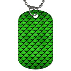 Scales1 Black Marble & Green Brushed Metal (r) Dog Tag (one Side)