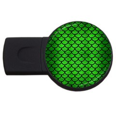 Scales1 Black Marble & Green Brushed Metal (r) Usb Flash Drive Round (2 Gb)