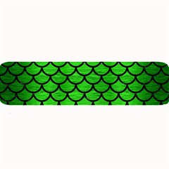 Scales1 Black Marble & Green Brushed Metal (r) Large Bar Mats