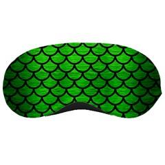 Scales1 Black Marble & Green Brushed Metal (r) Sleeping Masks