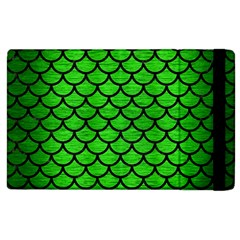 Scales1 Black Marble & Green Brushed Metal (r) Apple Ipad 2 Flip Case