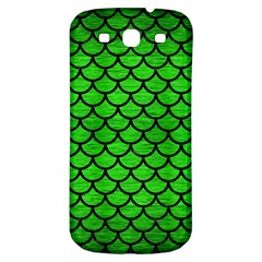 Scales1 Black Marble & Green Brushed Metal (r) Samsung Galaxy S3 S Iii Classic Hardshell Back Case