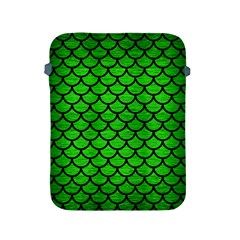 Scales1 Black Marble & Green Brushed Metal (r) Apple Ipad 2/3/4 Protective Soft Cases