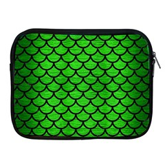 Scales1 Black Marble & Green Brushed Metal (r) Apple Ipad 2/3/4 Zipper Cases