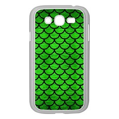 Scales1 Black Marble & Green Brushed Metal (r) Samsung Galaxy Grand Duos I9082 Case (white)