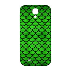 Scales1 Black Marble & Green Brushed Metal (r) Samsung Galaxy S4 I9500/i9505  Hardshell Back Case