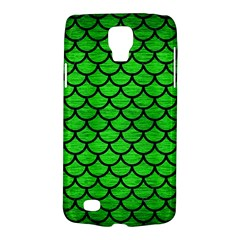 Scales1 Black Marble & Green Brushed Metal (r) Galaxy S4 Active