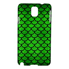 Scales1 Black Marble & Green Brushed Metal (r) Samsung Galaxy Note 3 N9005 Hardshell Case