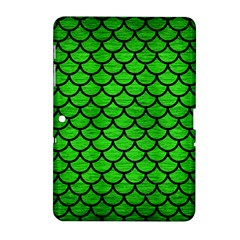 Scales1 Black Marble & Green Brushed Metal (r) Samsung Galaxy Tab 2 (10 1 ) P5100 Hardshell Case