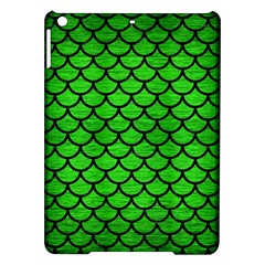 Scales1 Black Marble & Green Brushed Metal (r) Ipad Air Hardshell Cases