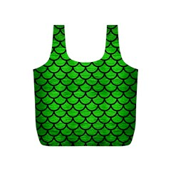 Scales1 Black Marble & Green Brushed Metal (r) Full Print Recycle Bags (s)