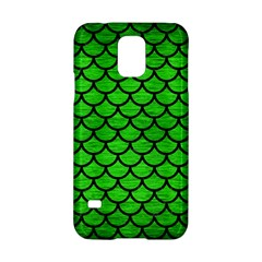 Scales1 Black Marble & Green Brushed Metal (r) Samsung Galaxy S5 Hardshell Case