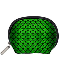 Scales1 Black Marble & Green Brushed Metal (r) Accessory Pouches (small)