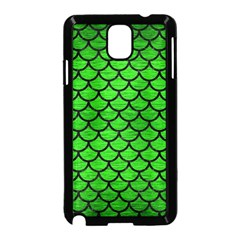 Scales1 Black Marble & Green Brushed Metal (r) Samsung Galaxy Note 3 Neo Hardshell Case (black)
