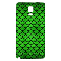 Scales1 Black Marble & Green Brushed Metal (r) Galaxy Note 4 Back Case