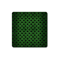 Scales2 Black Marble & Green Brushed Metal Square Magnet