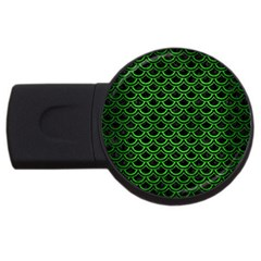 Scales2 Black Marble & Green Brushed Metal Usb Flash Drive Round (4 Gb)