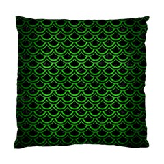 Scales2 Black Marble & Green Brushed Metal Standard Cushion Case (one Side)