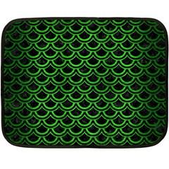 Scales2 Black Marble & Green Brushed Metal Fleece Blanket (mini)