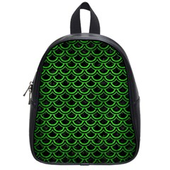 Scales2 Black Marble & Green Brushed Metal School Bag (small)