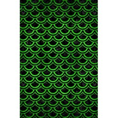 Scales2 Black Marble & Green Brushed Metal 5 5  X 8 5  Notebooks