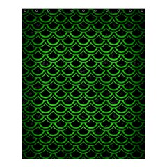 Scales2 Black Marble & Green Brushed Metal Shower Curtain 60  X 72  (medium)