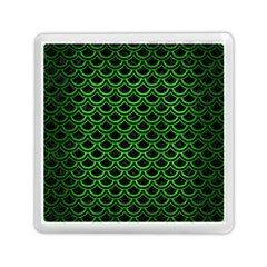 Scales2 Black Marble & Green Brushed Metal Memory Card Reader (square)