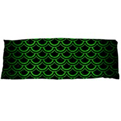 Scales2 Black Marble & Green Brushed Metal Body Pillow Case Dakimakura (two Sides)