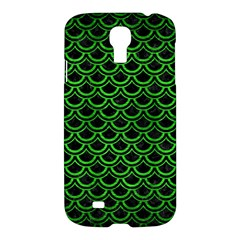 Scales2 Black Marble & Green Brushed Metal Samsung Galaxy S4 I9500/i9505 Hardshell Case